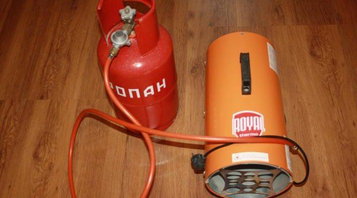 Отопление гаража газовой тепловой пушкой