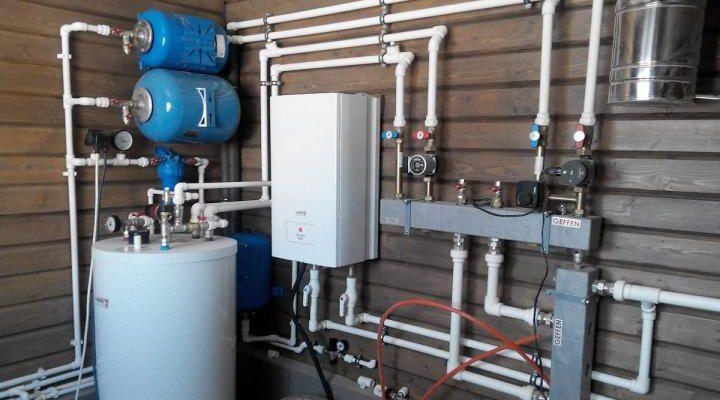 Простая система автономного парового отопления в частном доме