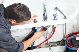 Пошаговая инструкция по замене смесителя в ванной
